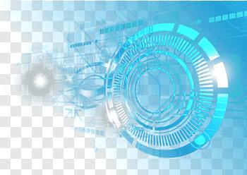 Round blue, Iron Man Light Aperture Blue, Blue light effect.
