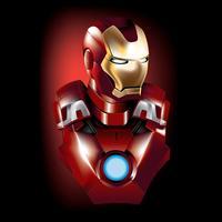 Iron Man Free Vector Art.