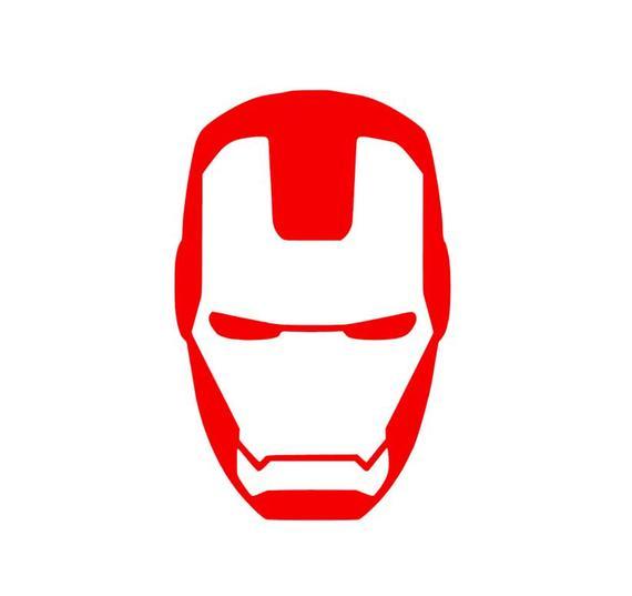 Iron Man Helmet Vinyl Decal/Bumper Sticker.
