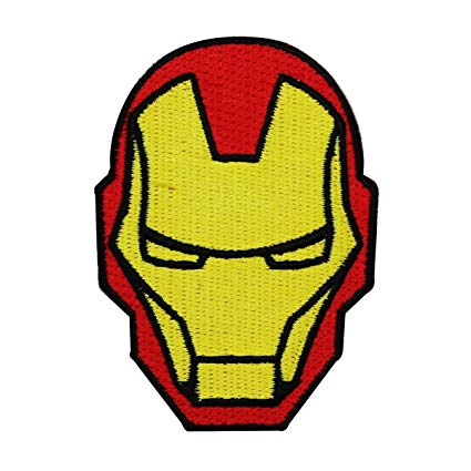 Amazon.com: Iron Man Helmet IronOn Patch Marvel Comic Superhero DIY.