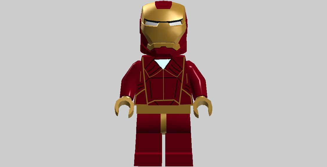 Lego Iron Man Clipart.