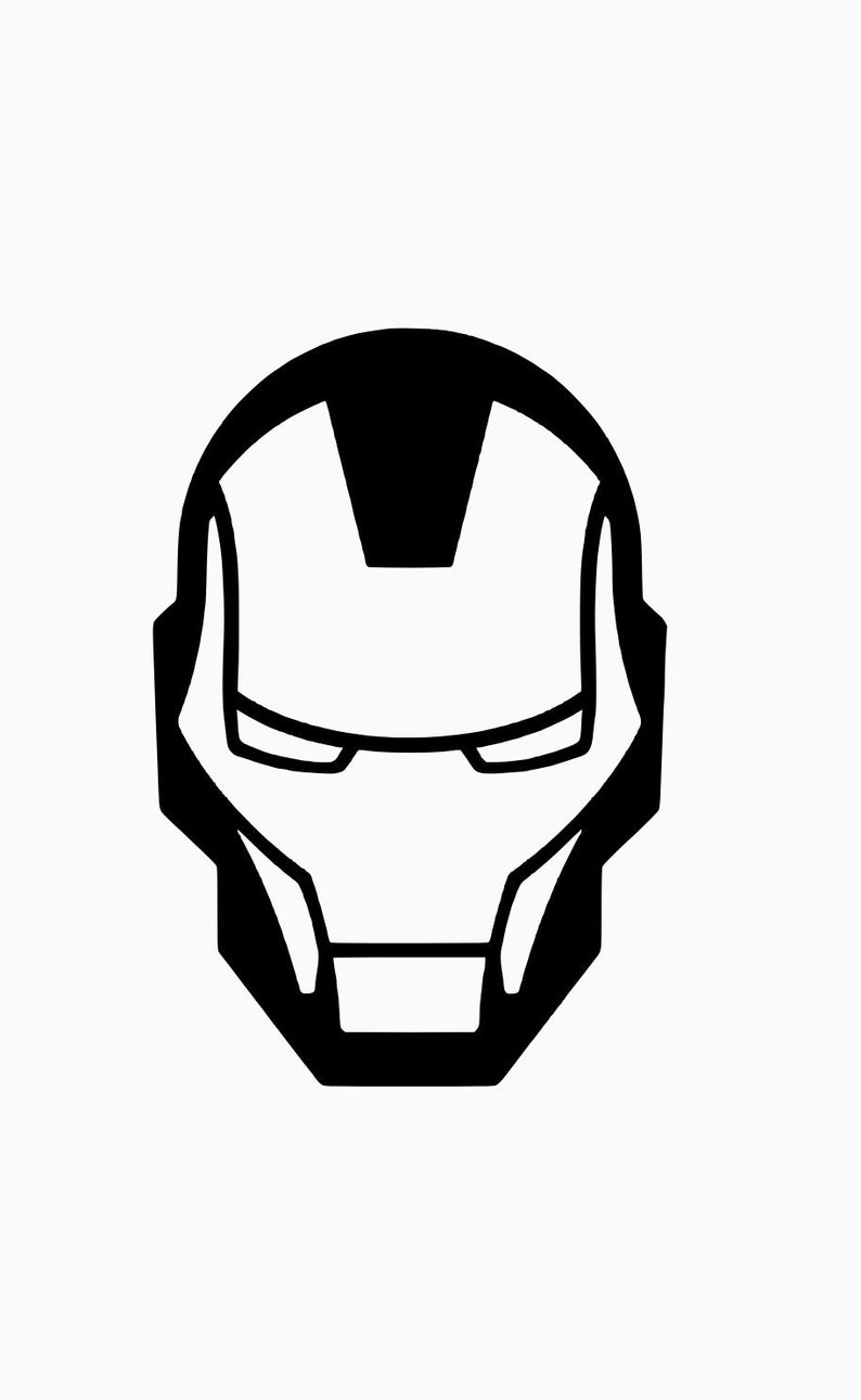Iron Man mask decal.