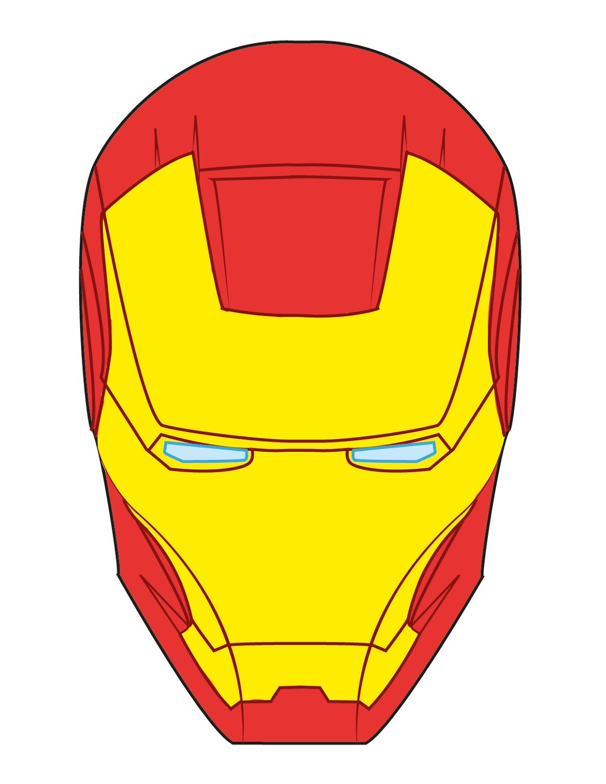 Iron Man Face Template For Cake Iron man face cake pin it.