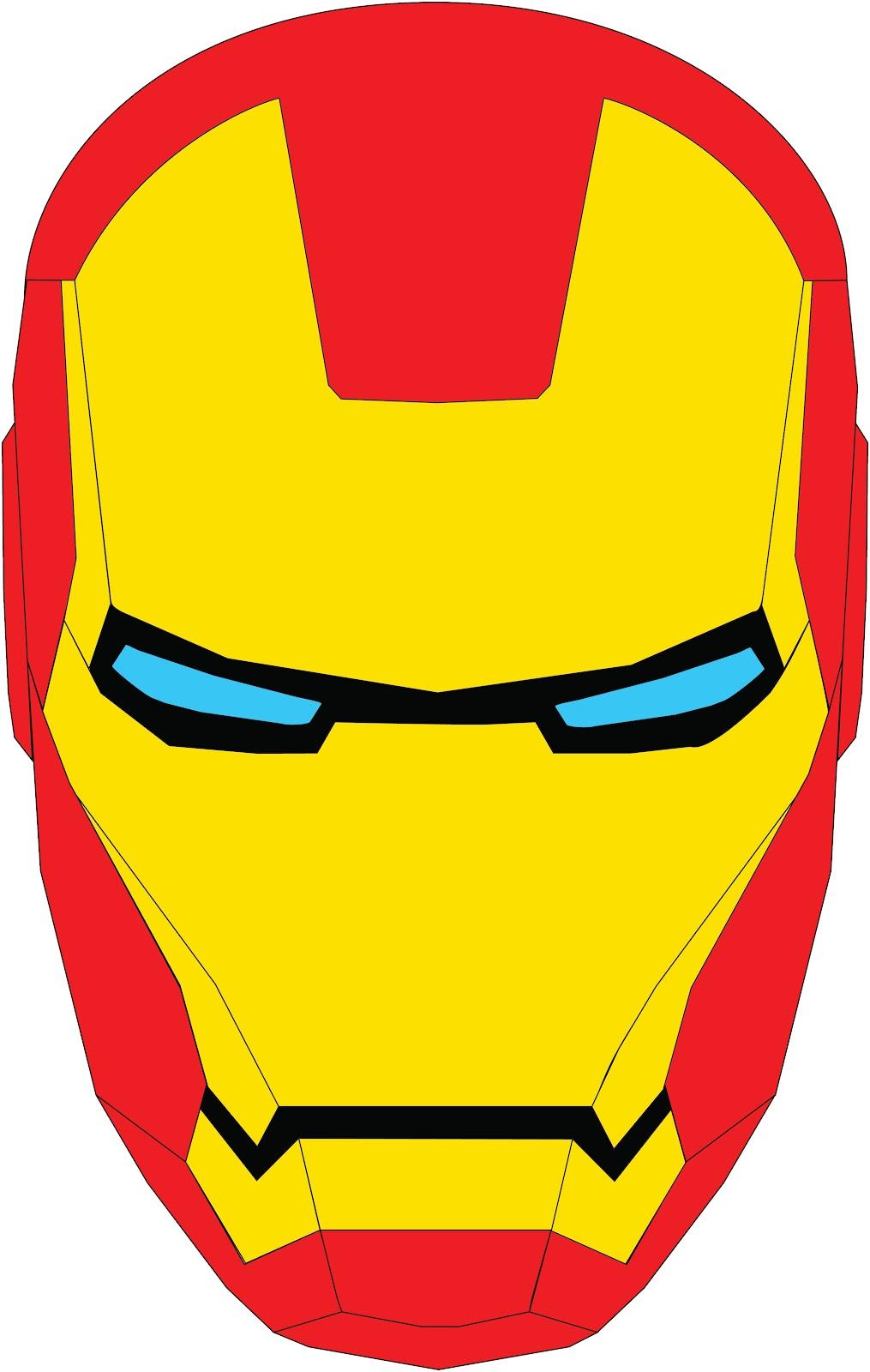 Iron man face clip art.
