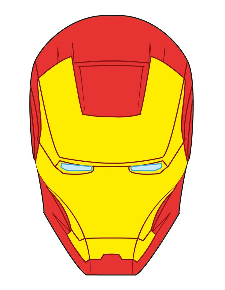 Ironman mask clipart.