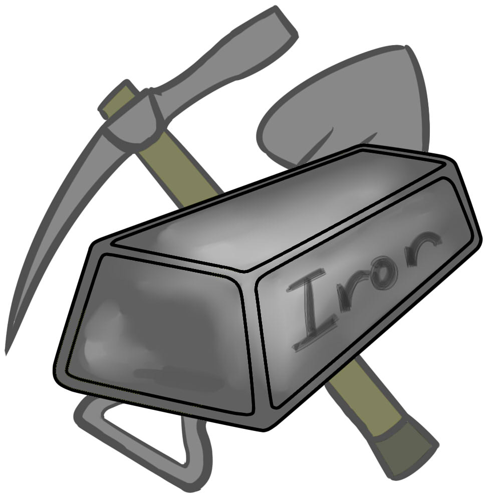 Iron ore clipart.