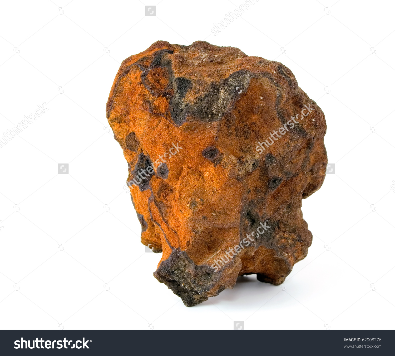 Natural Sample Iron Ore Stock Photo 62908276.