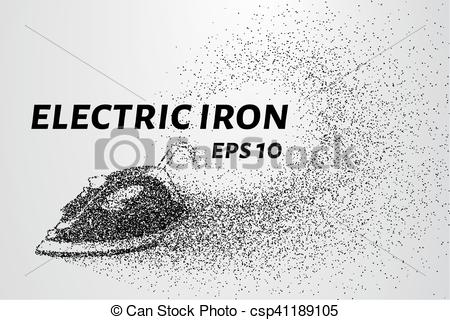 Vector Clipart of The iron of the particles. Electric iron.