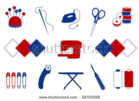 Quilt Patchwork Tools Diy Craft Hobby Stock Vector 101771116.