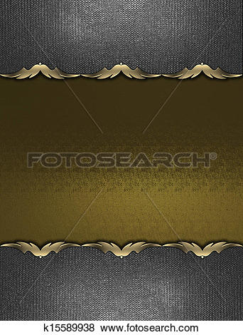 Stock Illustration of Gold texture with iron plates on the edges.