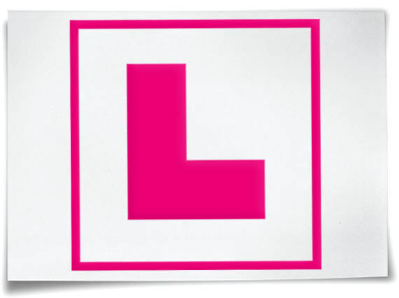 L plate clipart.