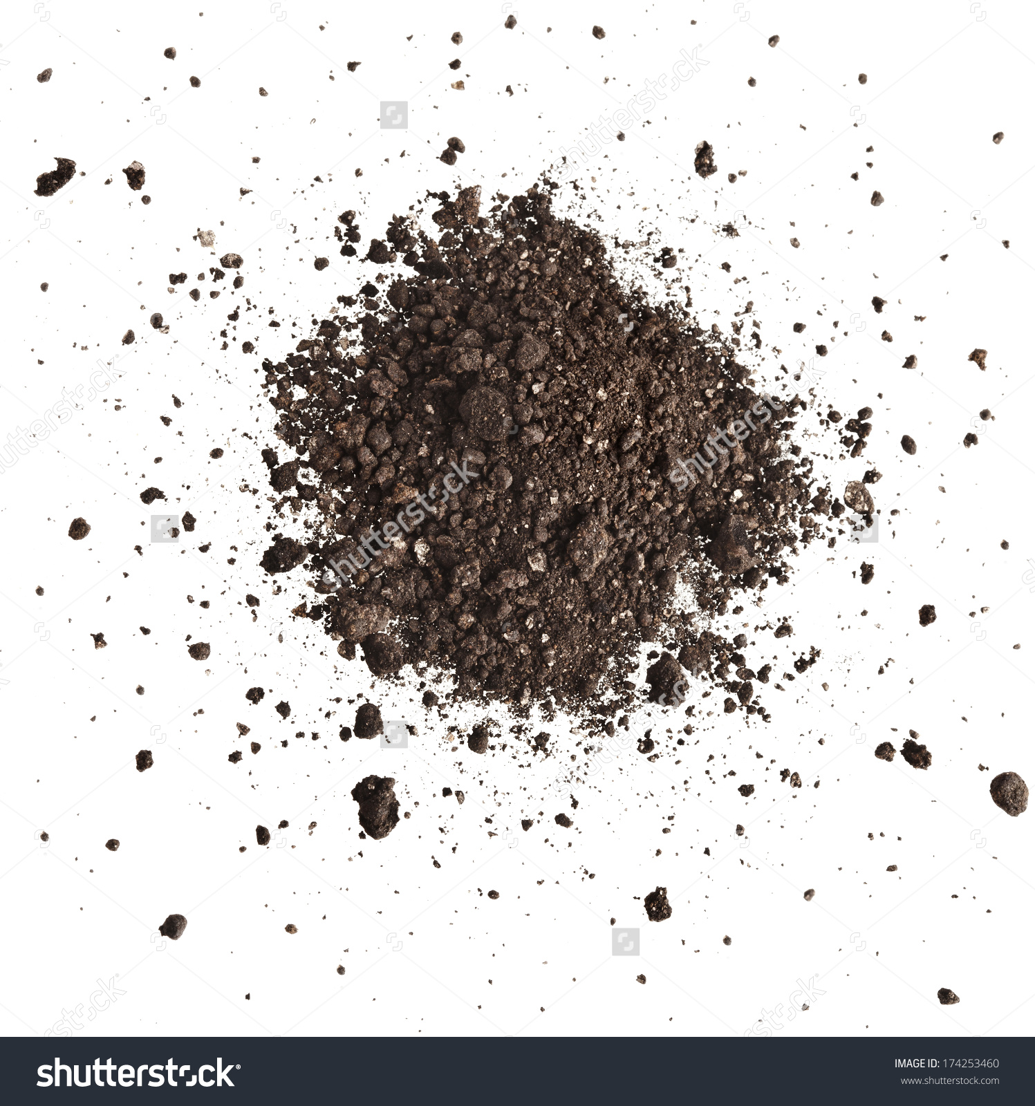 Pile Of Composition Of The Iron Powder And Vermiculite Isolated On.