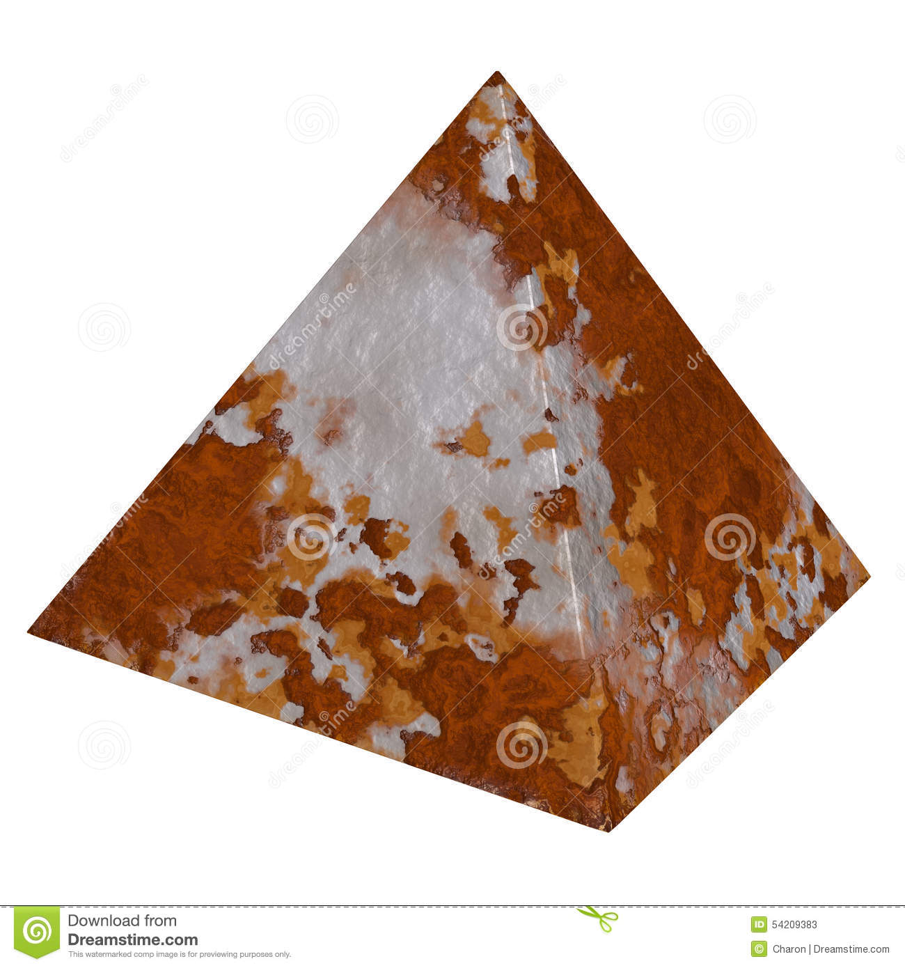 Rust Pyramid Rustic Metal Textures Stock Photo.
