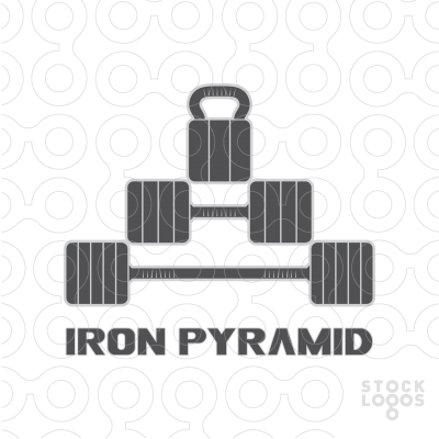 Exclusive Customizable Logo For Sale: Iron Pyramid.