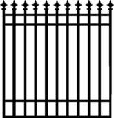 Clipart of , arrows, fence, gate, grill, iron, ironwork, scroll.