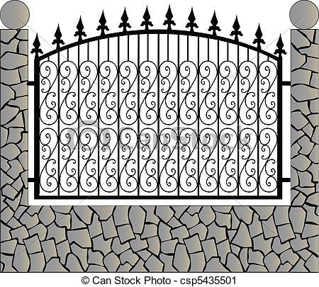 Железный забор с рисунком