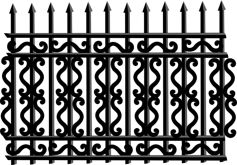 Iron Fence Png.