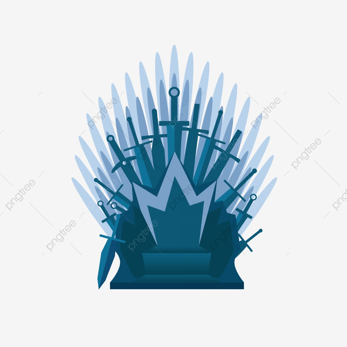 Iron Throne King Empress Blue Glory Right Commercial Element, Iron.