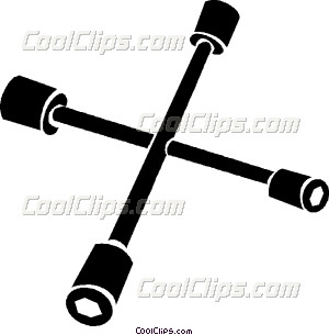 tire iron Vector Clip art.