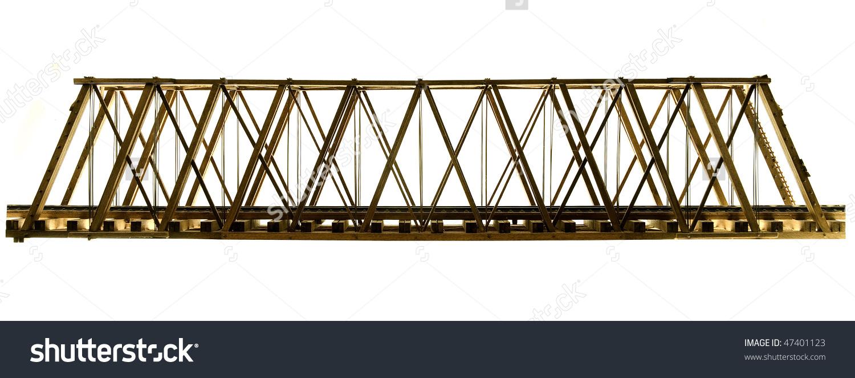 Wooden Model Truss Bridge Stock Photo 47401123.
