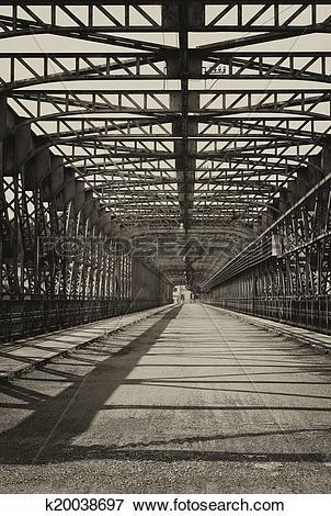 Picture of Vintage iron truss bridge k20038697.