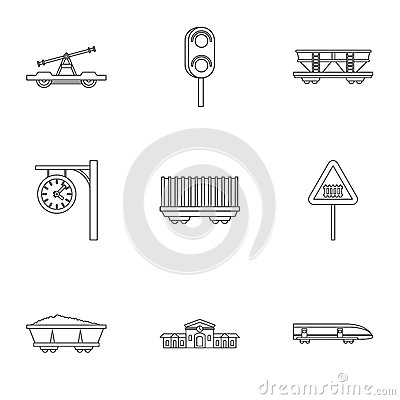 Iron Road Traffic Light Stock Illustrations.
