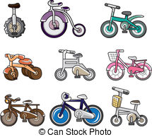 Vector of Iron way road icons set, cartoon style.