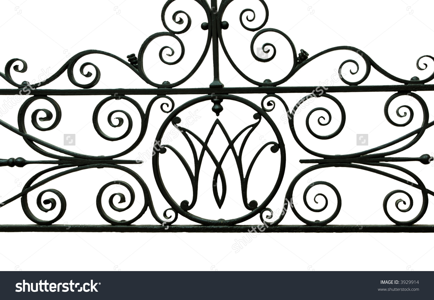 Iron Work Detail Picture Taken Victoria Stock Photo 3929914.