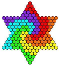 COOL* Perler Bead Hexagons.
