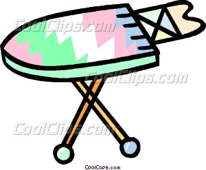 ironing board Vector Clip art.
