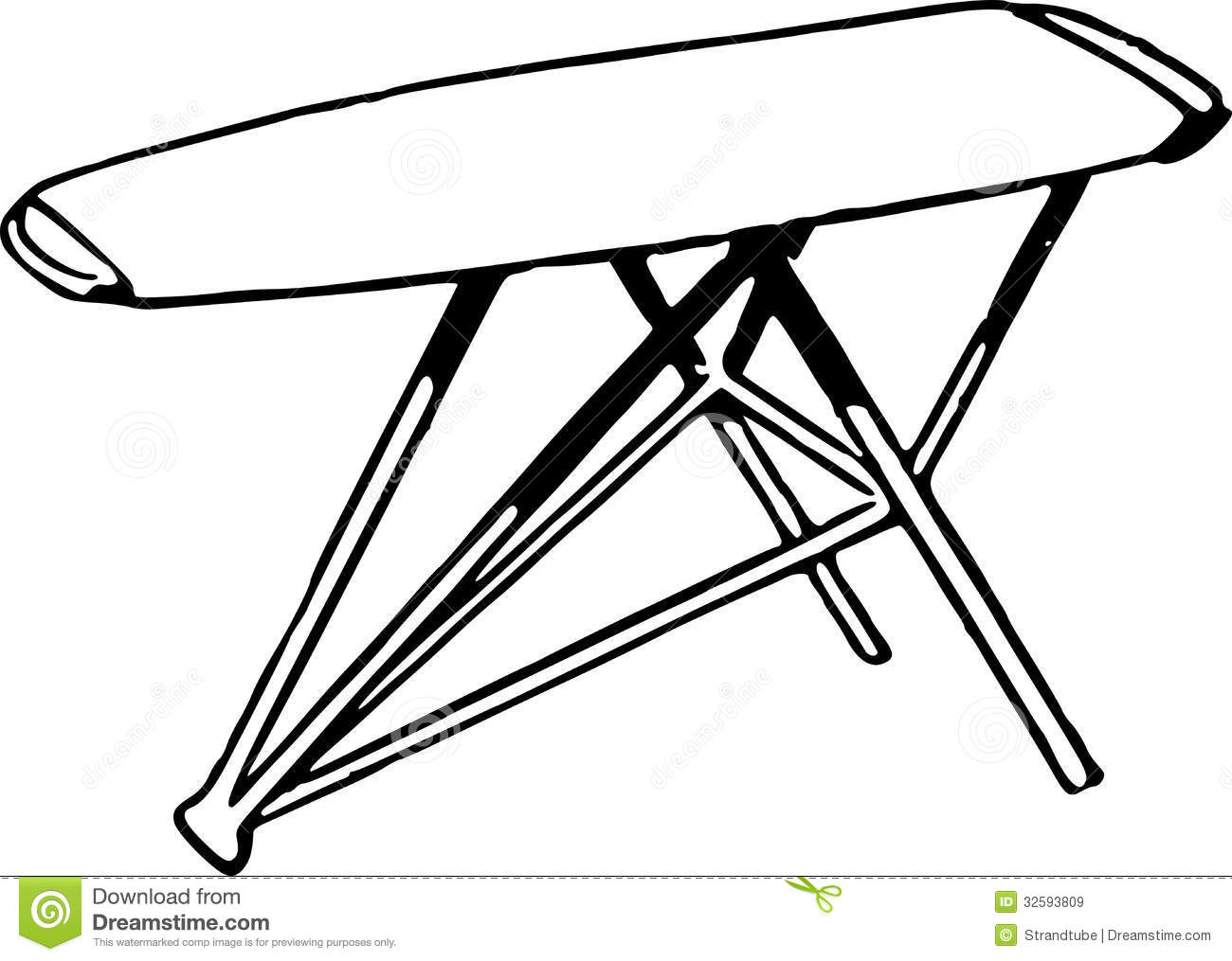 Ironing Board Clipart.