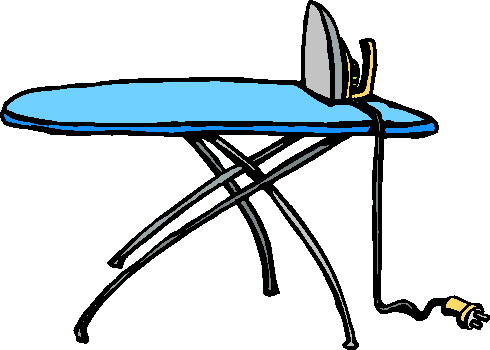 Clipart ironing board.