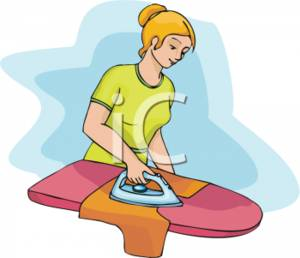 Ironing Clothes Clipart.