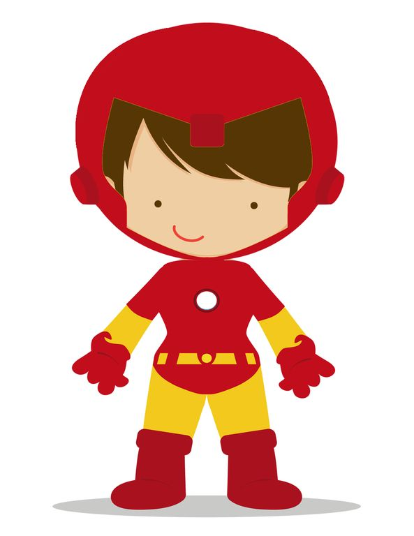 Cute Ironman Clipart.