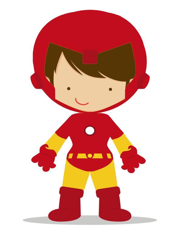 Cute Ironman Clipart.