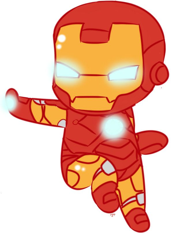 chibi iron man fan art.