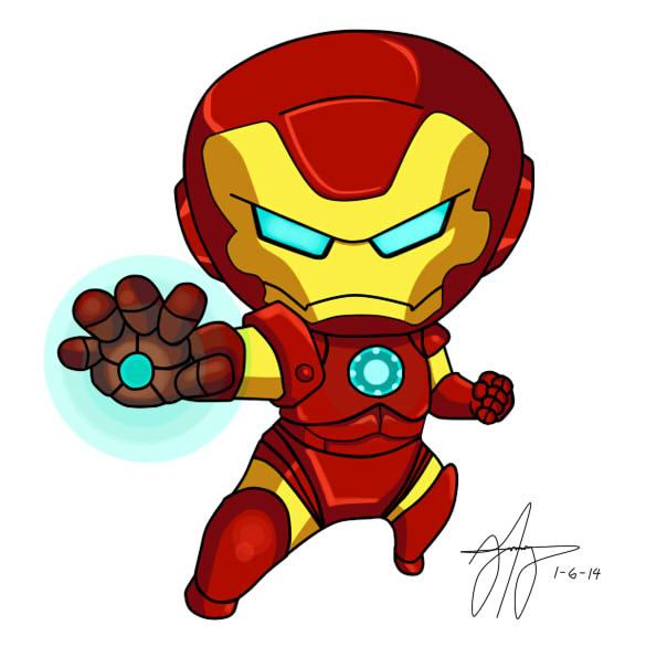 Showing post & media for Peeking baby iron man cartoon.