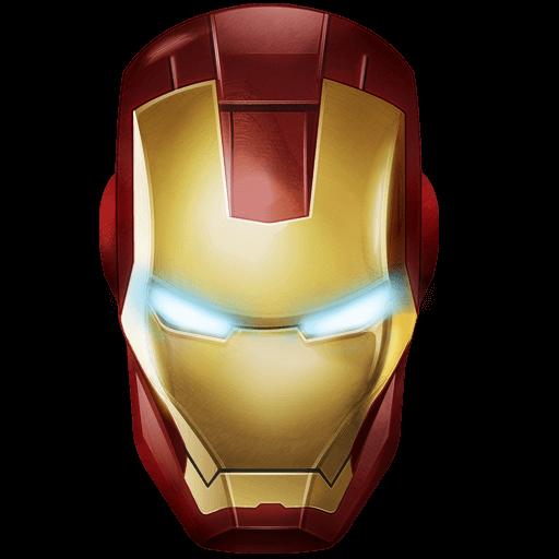 Iron Man Mask transparent PNG.