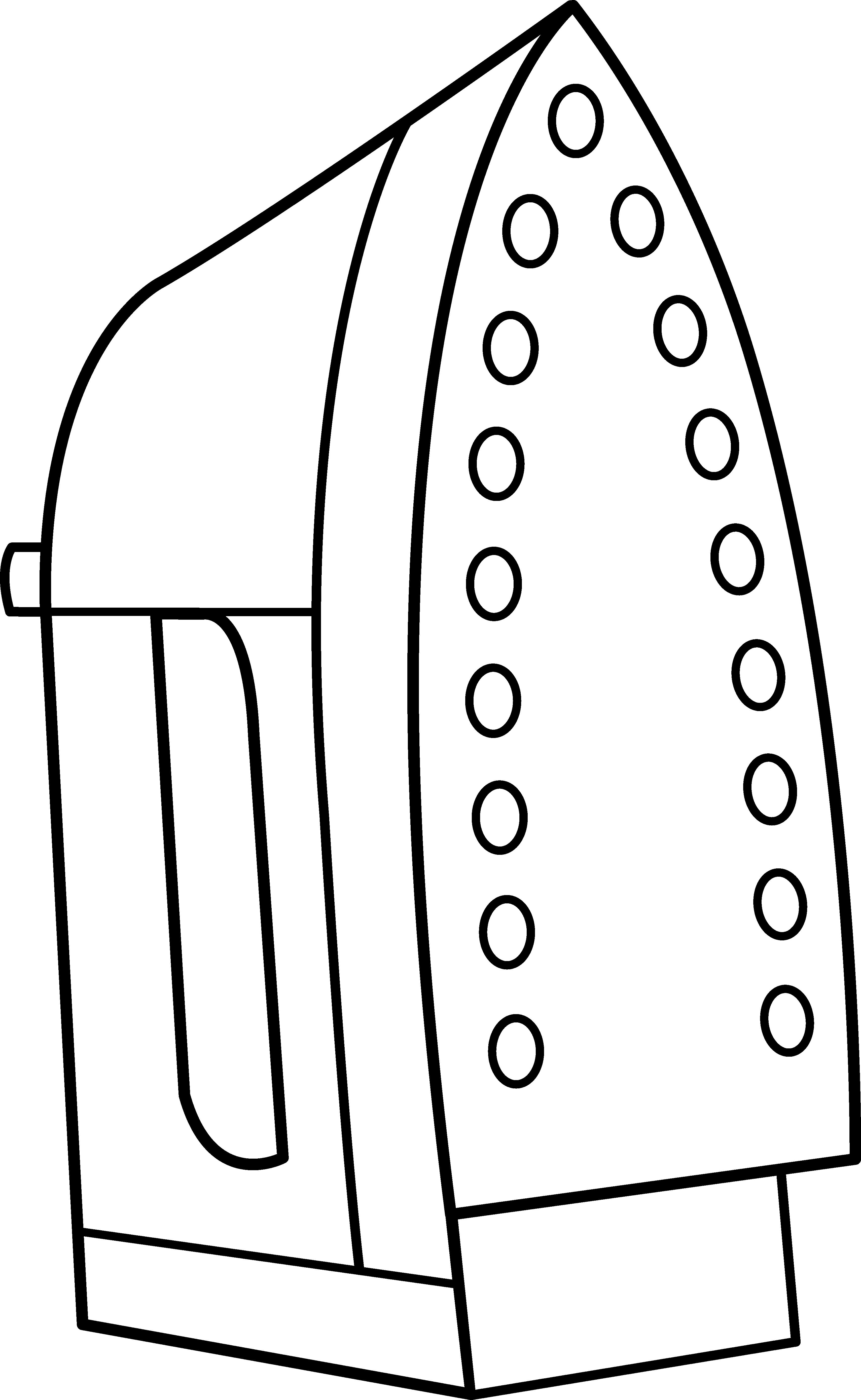 Clothing Iron Line Art.