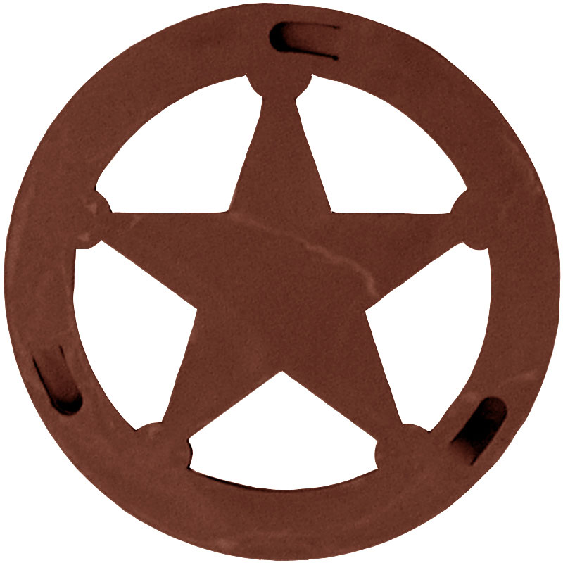 Texas Star Round Trivet By Ironwood Industries Nc Rustic #hdWCPq.