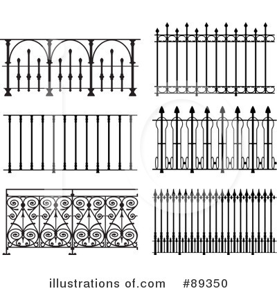 Wrought Iron Gate Clipart.