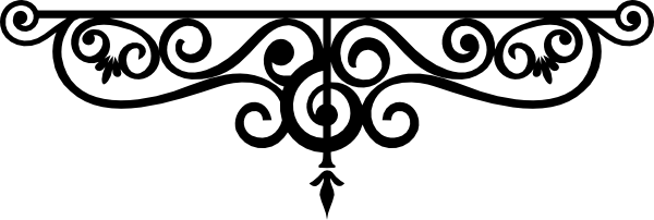 Wrought Iron Frame Clipart.