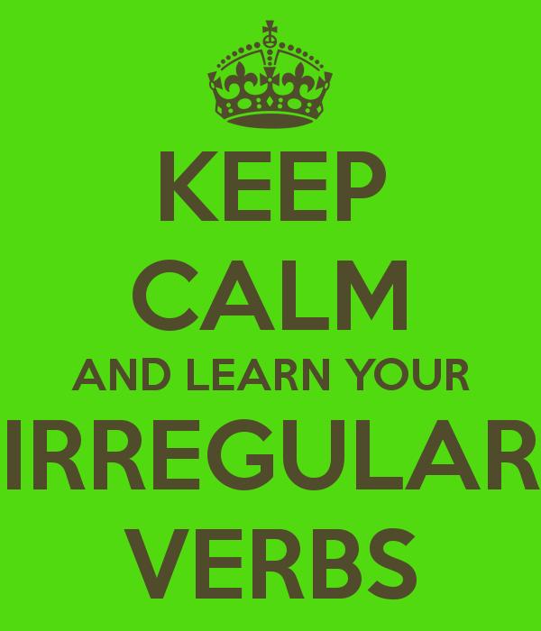 Irregular verbs clipart.
