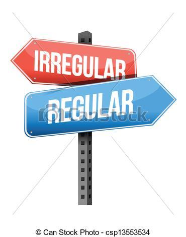 Vectors of irregular, regular road sign illustration design over a.