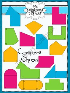 Geometric Solids Clip Art for Commercial Use! ** 3D Shapes.