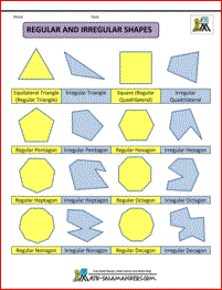 Printable Shapes 2D and 3D.
