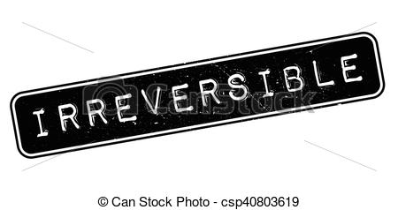 Vector Clip Art of Irreversible rubber stamp.