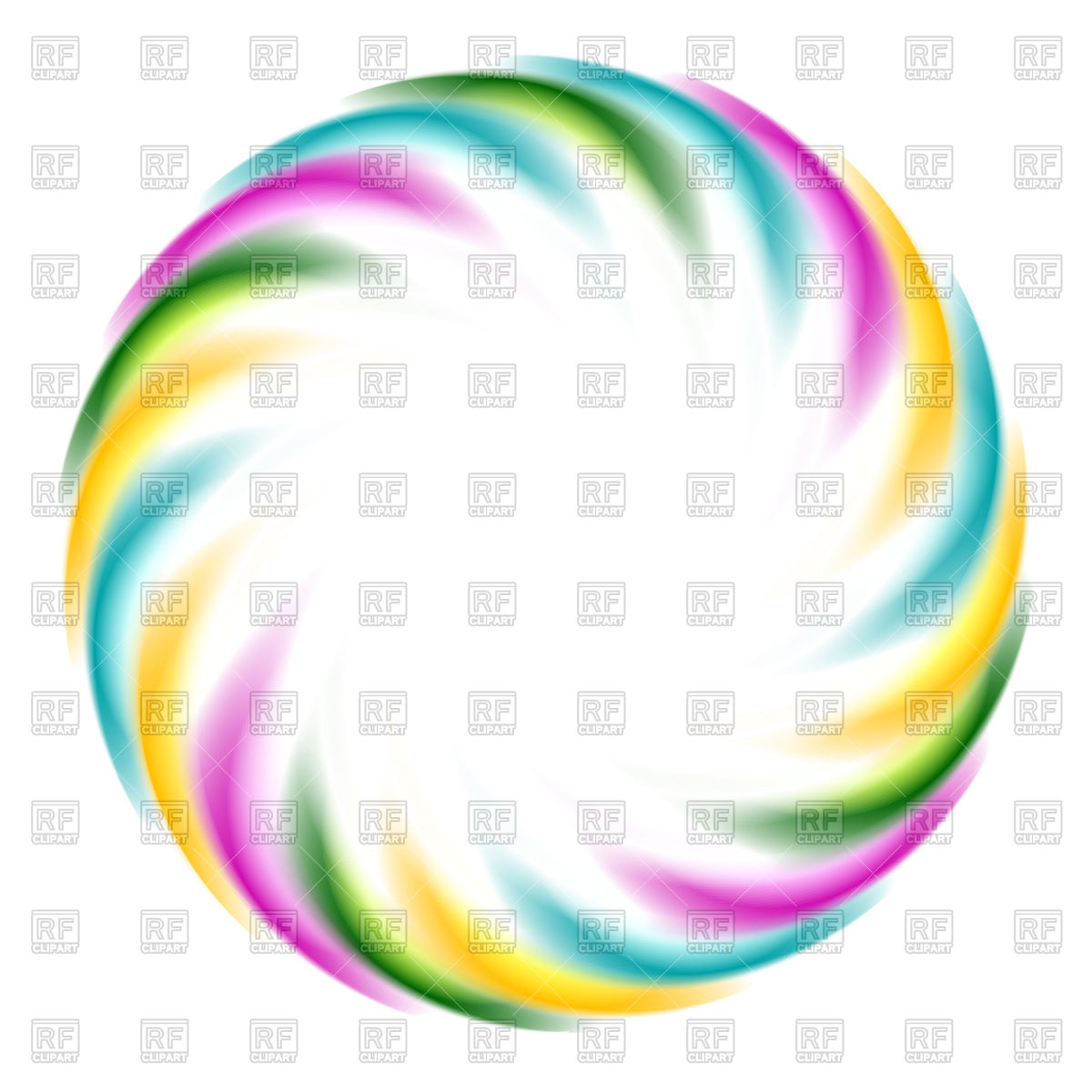 Colorful iridescent circle Vector Image #77310.