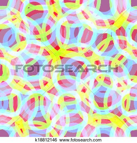 Clip Art of Background Iridescent Rings k18812146.