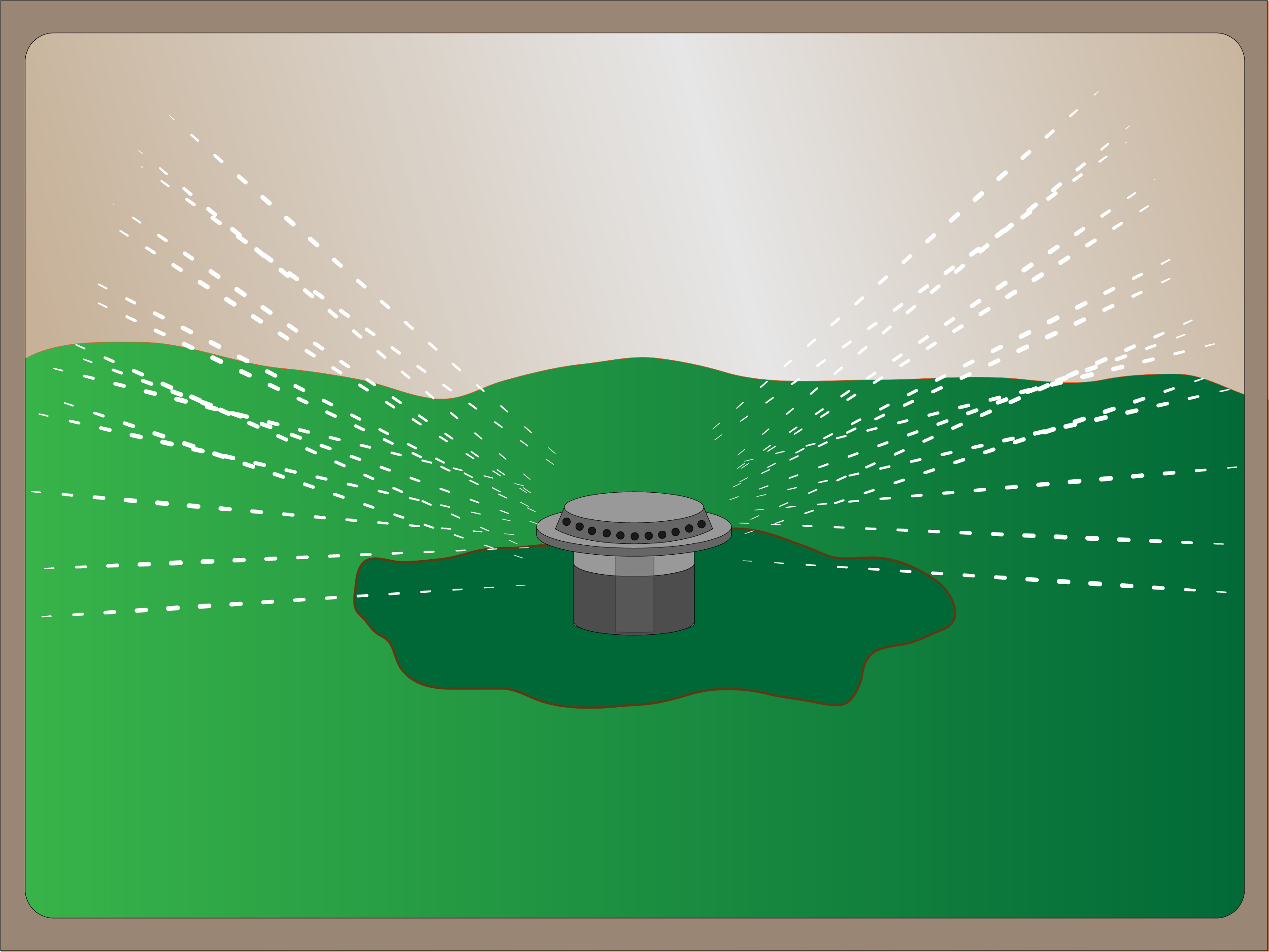 Irrigation system clipart.